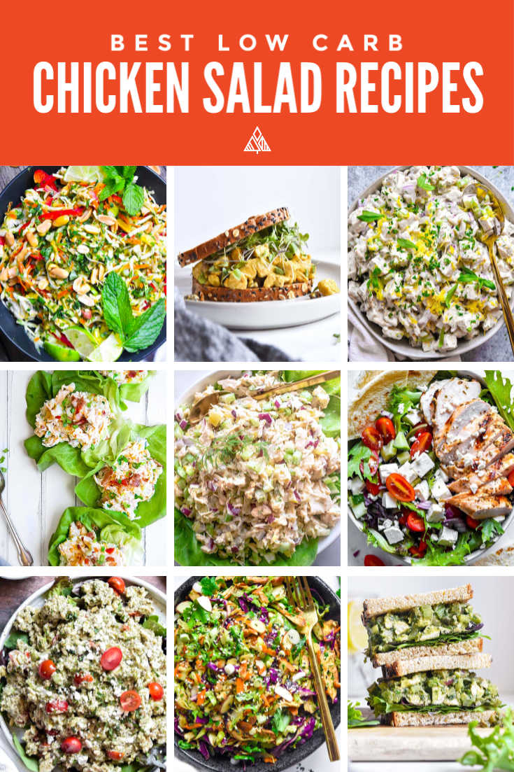 Low carb chicken salad is moist succulent chicken seasoned & blended with crisp veggies, fragrant herbs and a homemade dressing that puts the mmm in yum! #lowcarbchickensalad #ketochickensalad
