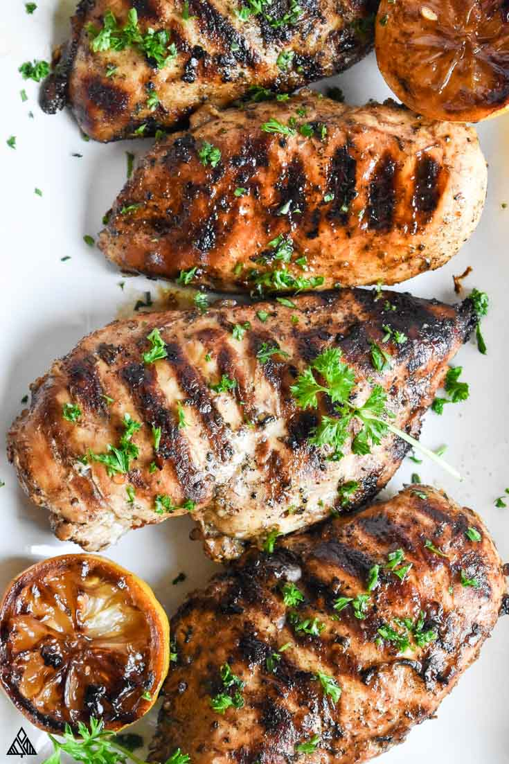 Top view of mediterranean chicken marinade