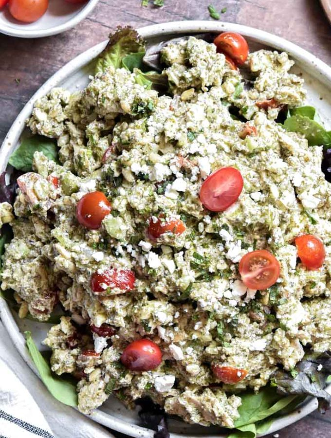 Pesto Chicken Salad (Low Carb!!)