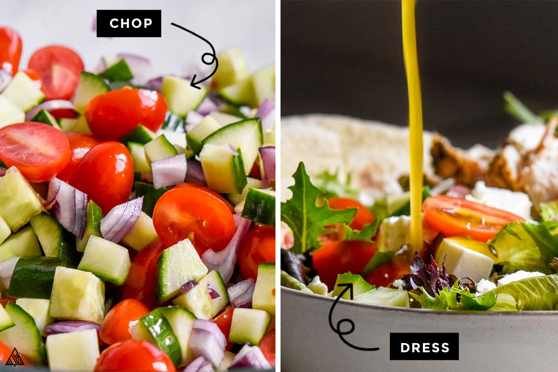 steps on how to make greek chicken salad