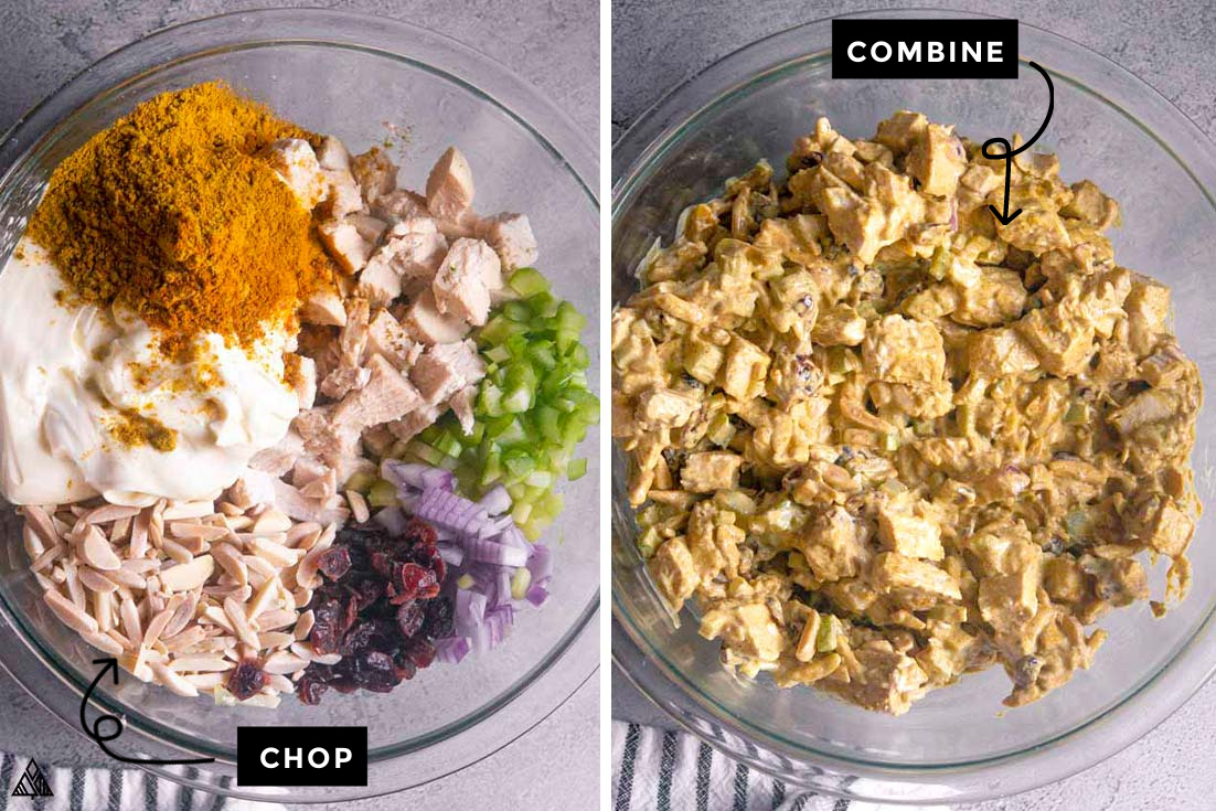 Steps for how to make Curry chicken salad