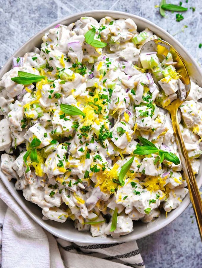 Tarragon Chicken Salad (Low Carb + Paleo!)
