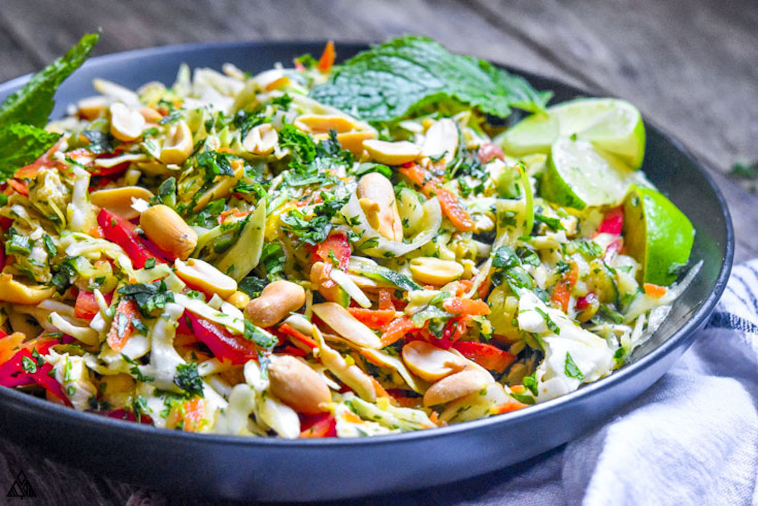 One of the best low carb chicken salad recipes is thai chicken salad