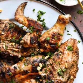 YogurtMarinated Chicken in a plate