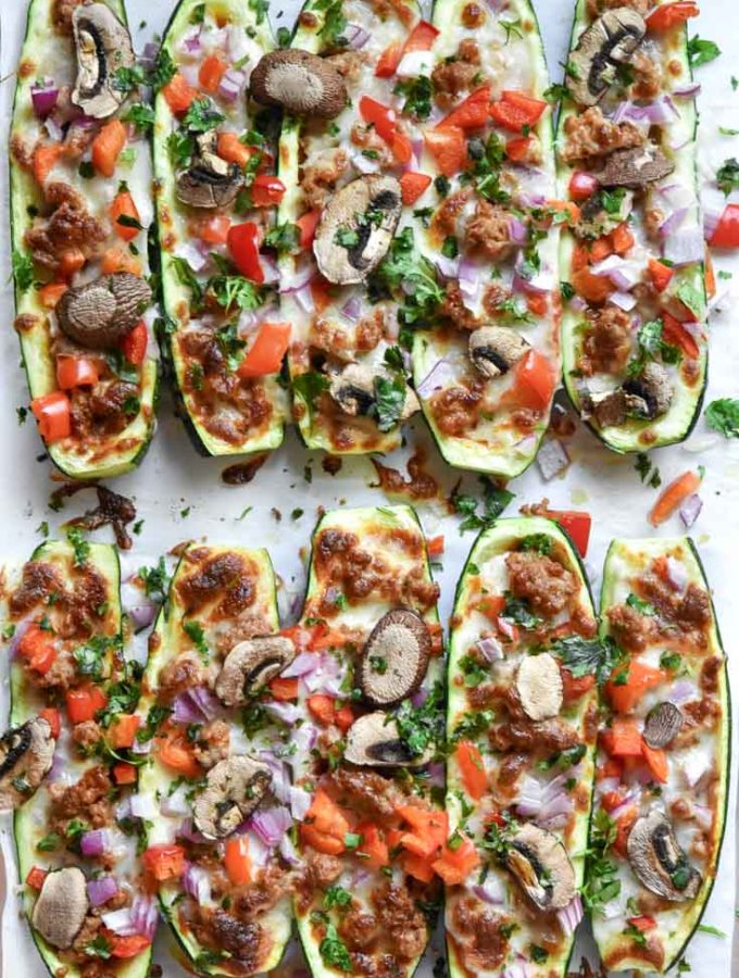 Zucchini Pizza (Low Carb + Keto!)