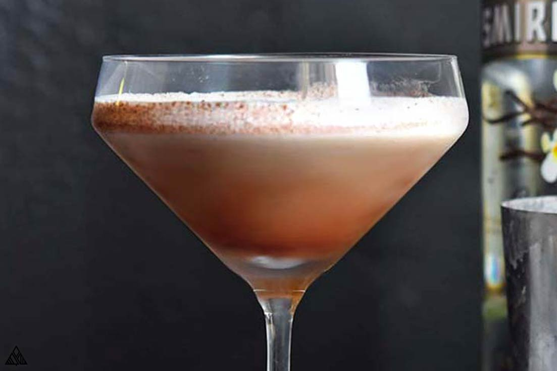 Low Carb martini in a glass