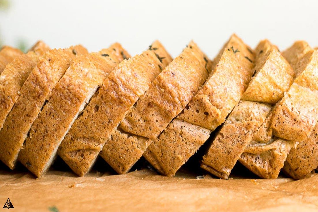 Slices of almond flour bread