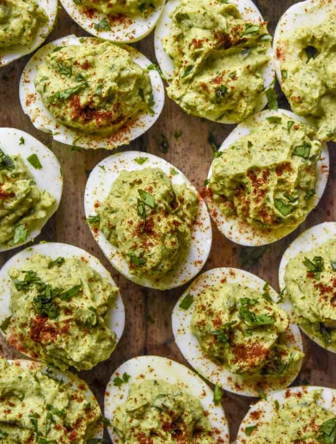 Avocado Deviled Eggs (Paleo + Low Carb!)