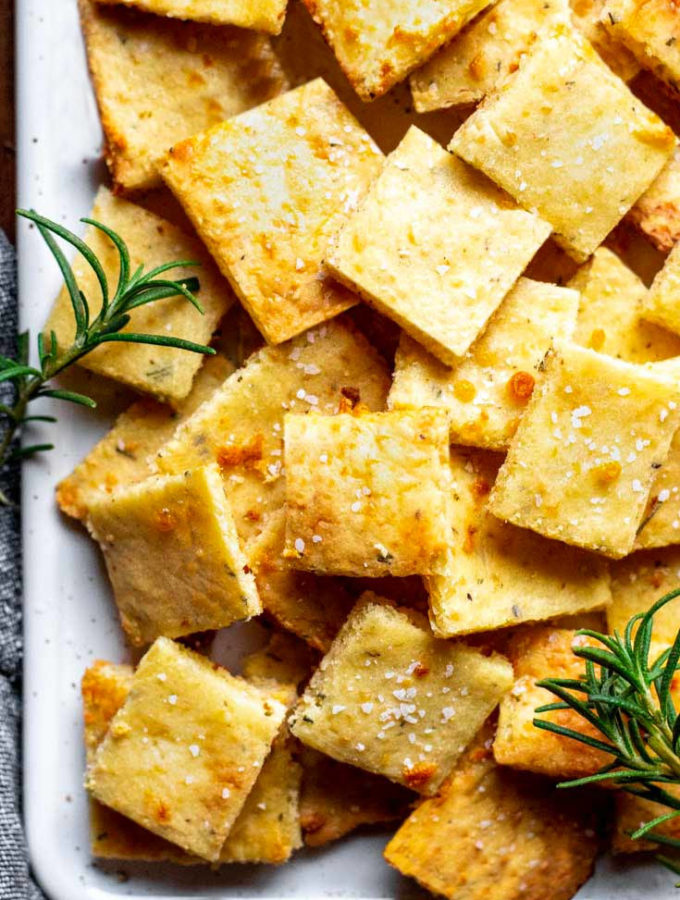 Cheese Crackers (2g Net Carbs!)