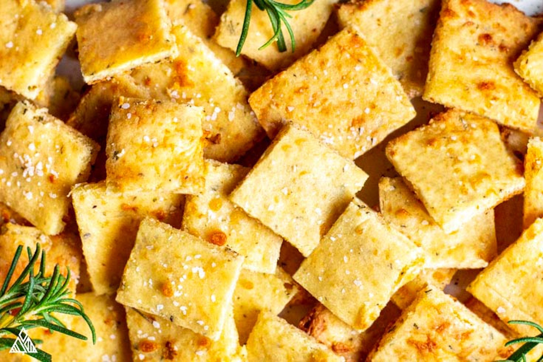 One of the best low carb crackers recipes is cheese crackers
