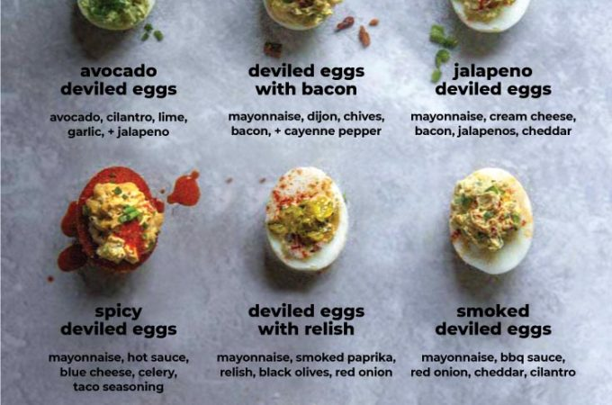 *NEW* These creamy deviled eggs make a perfect and satisfying low carb breakfast, or give me a delicious and healthy option at parties when I'm easily tempted by carby snacks. #deviledeggs #lowcarbdeviledeggs