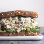 greek yogurt chicken salad sandwich
