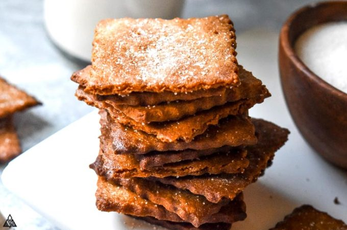 Stack of low carb graham crackers
