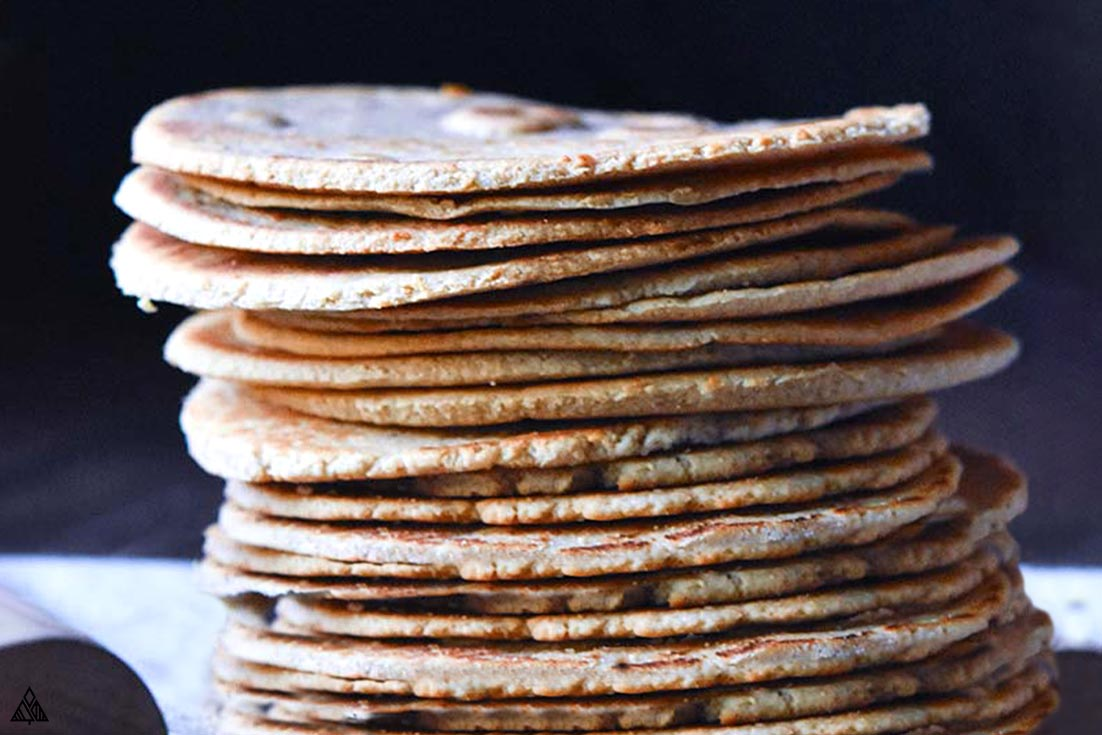 Stack of low carb wraps