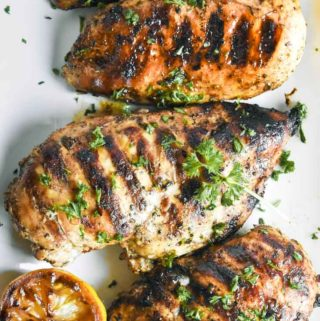 mediterranean chicken marinade on a plate