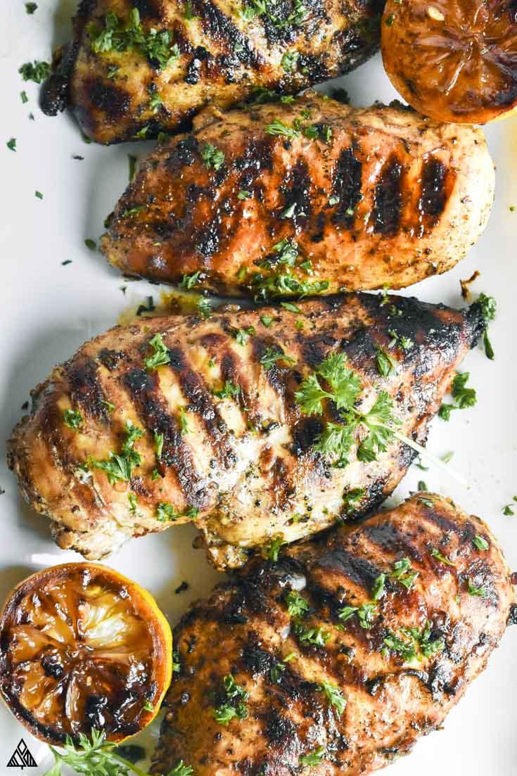 mediterranean chicken marinade on a plate