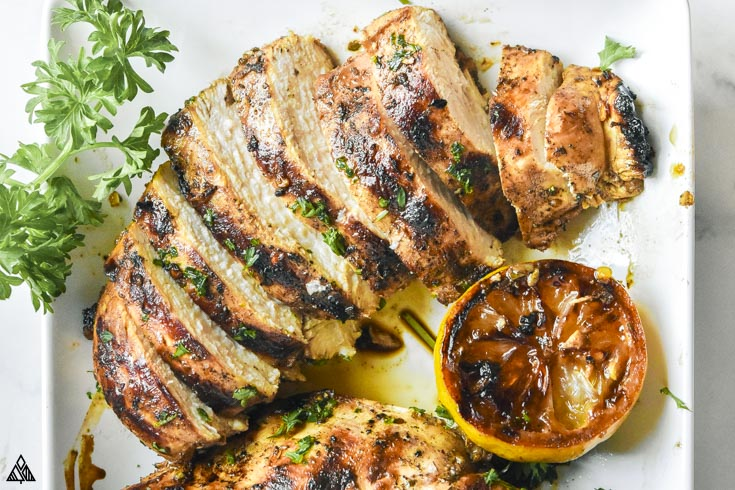 juicy sliced mediterranean chicken marinade