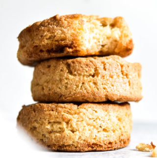 Stack of almond flour biscuits