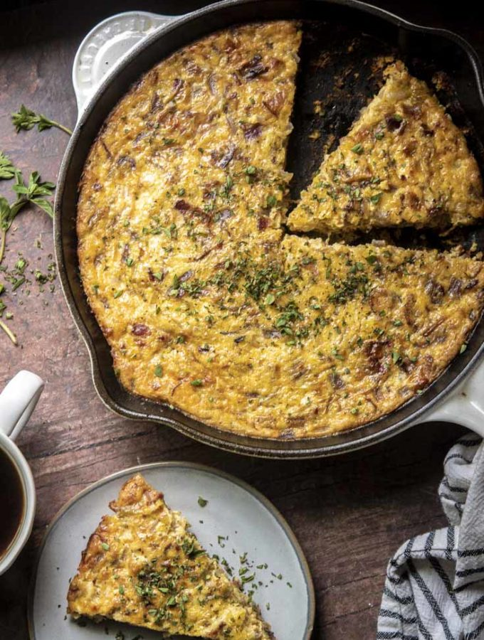 Crustless Quiche Lorraine (5g Net Carbs!)