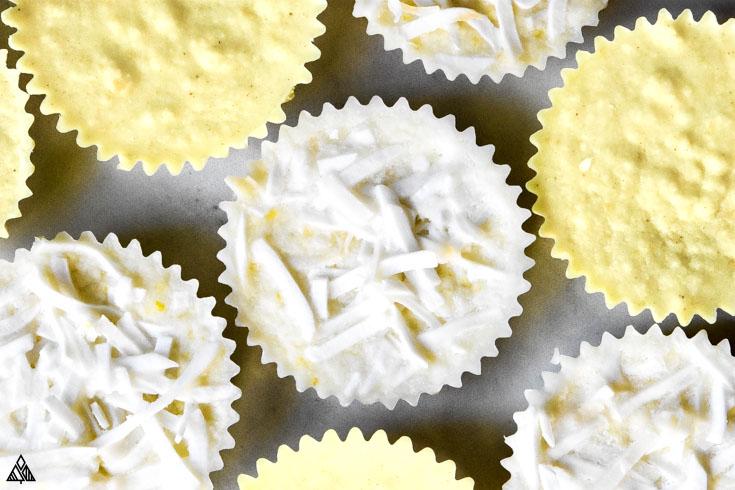 Top view of lemon fat bombs