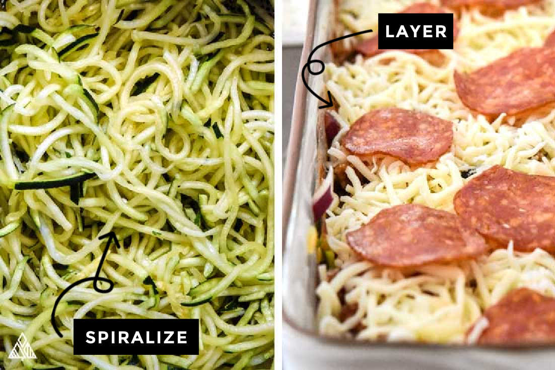 steps on making low carb pizza casserole