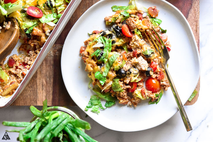 One of the best low carb casseroles is low carb taco casserole
