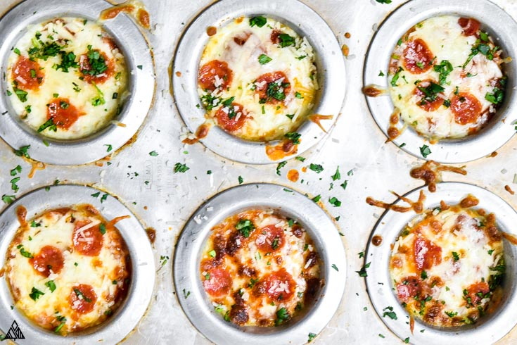 One of the best low carb pizza recipes is cauliflower pizza bites
