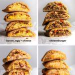 montage of keto hot pocket variations