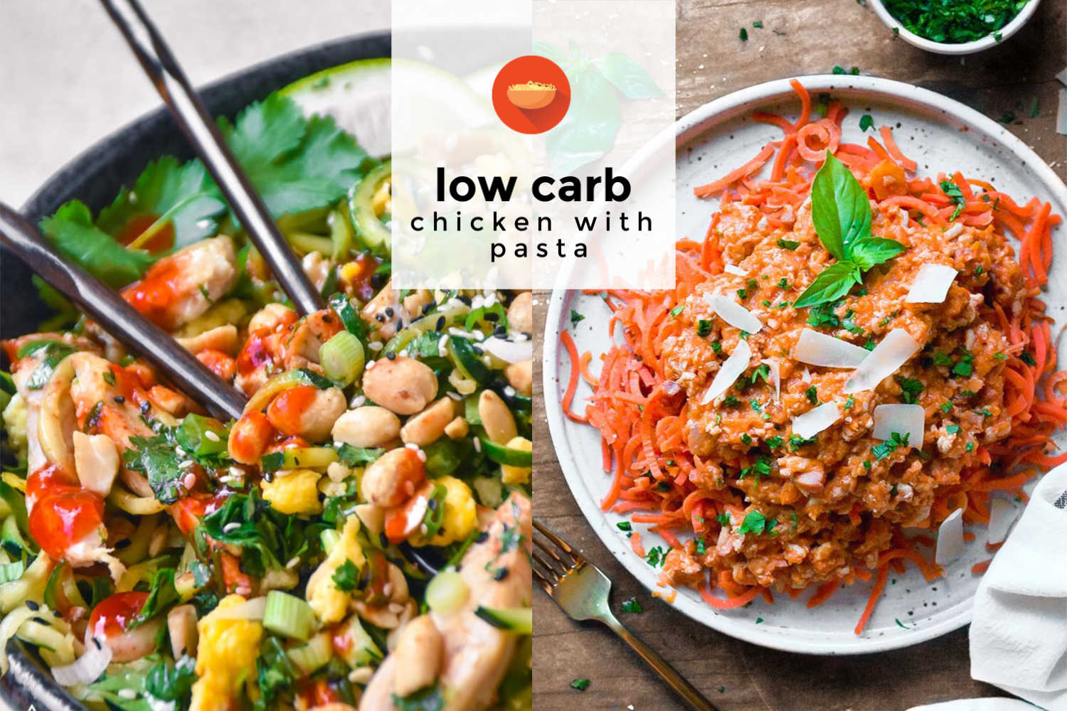 Low carb chicken with low carb pasta