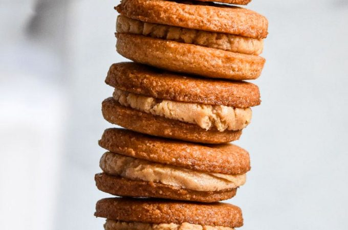 stack of low carb nutter butters