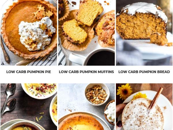 *NEW* Incorporating decadent low carb pumpkin recipes into your holiday meal plan is the best way to indulge in the traditional flavors of the season! #lowcarbpumpkinrecipes #ketopumpkinrecipes