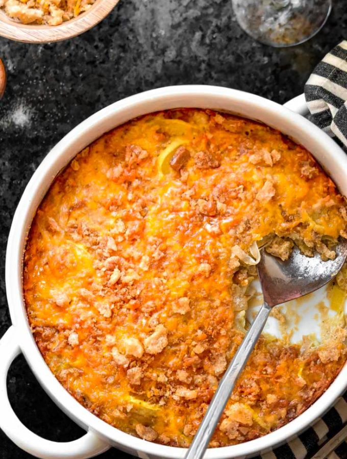 Low Carb Squash Casserole (Suuuper Cheesy!!)