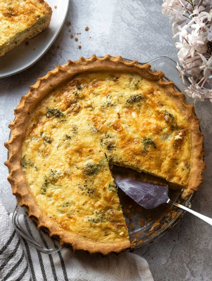 Broccoli Quiche (Low Carb Option!)