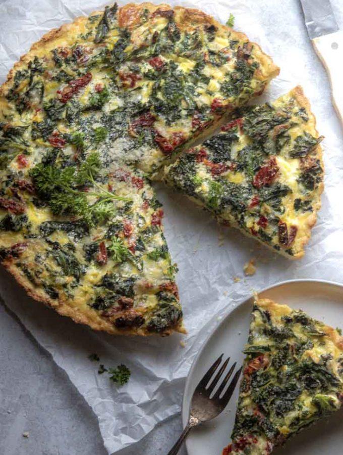 Kale Quiche (Low Carb Option!)