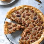 A slice of low carb pecan pie