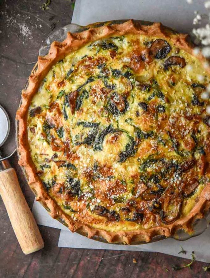 Mushroom Quiche (Low Carb Option!)