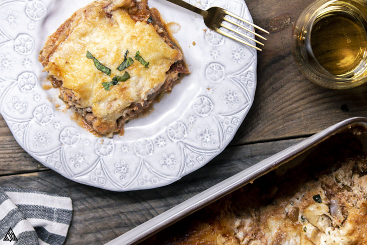 cabbage lasagna in a plate