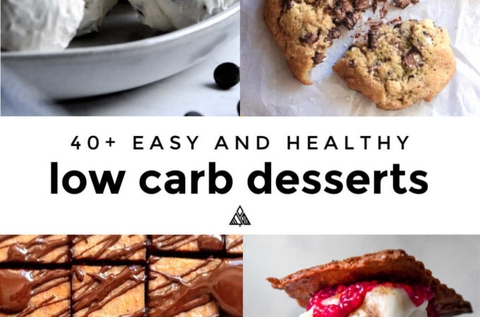 45 Low Carb Desserts bring flavor and indulgence without the carbs to keep the festivities going all holiday long! #lowcarbdesserts #ketodesserts