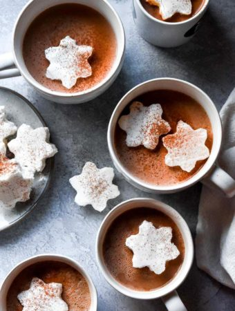 top view of low carb hot chocolate