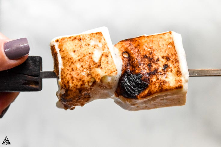 Low carb marshmallows in a stick
