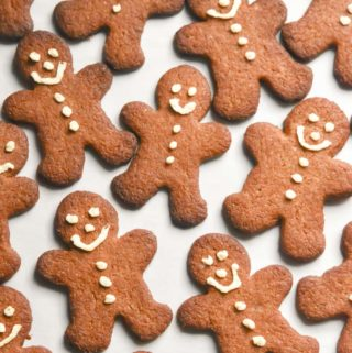 top view of low carb gingerbread cookies