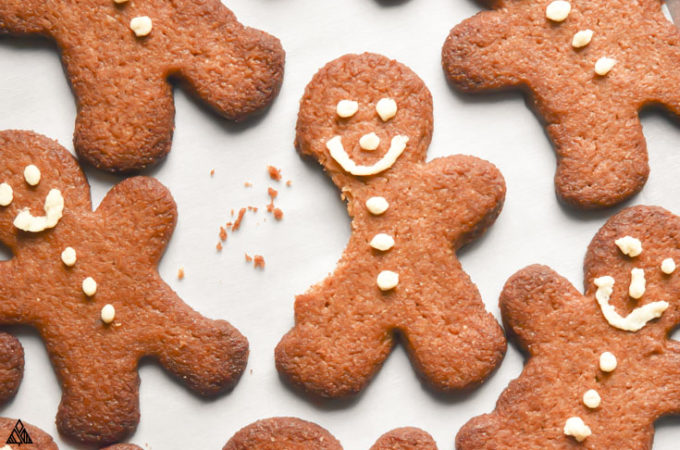 taken a small part of low carb gingerbread cookies