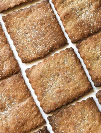 Top view of low carb graham crackers