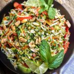Thai chicken salad in a pan