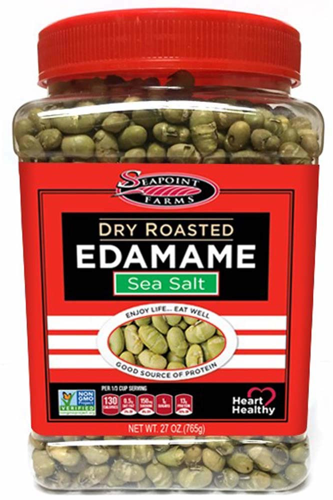 low carb snacks on the go, edamame