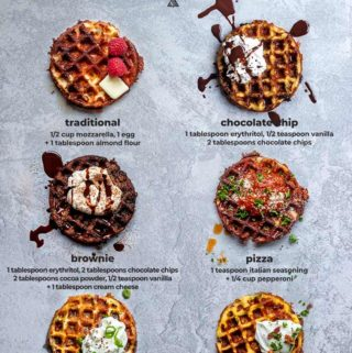 Graphic of various chaffles