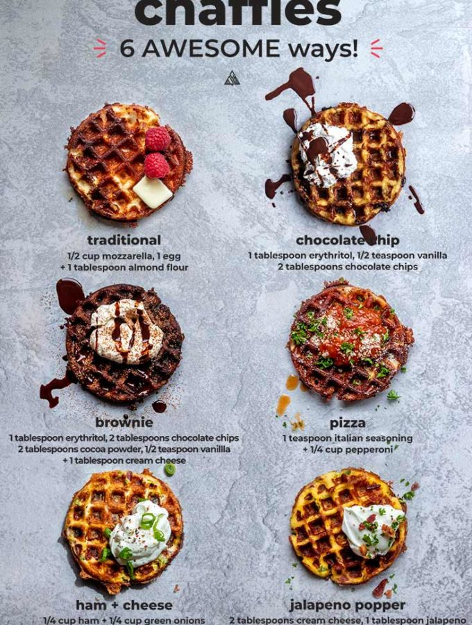 Keto + Low Carb Chaffles (6 Amazing Ways!)
