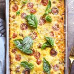 top view of low carb breakfast casserole