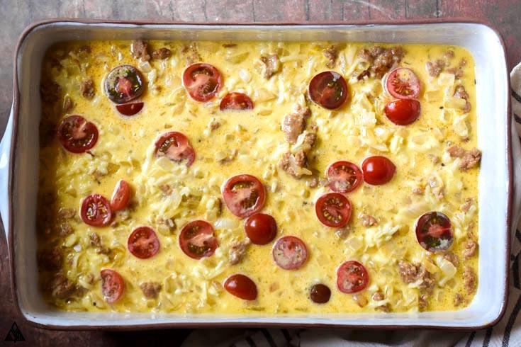 steps on making low carb breakfast casserole