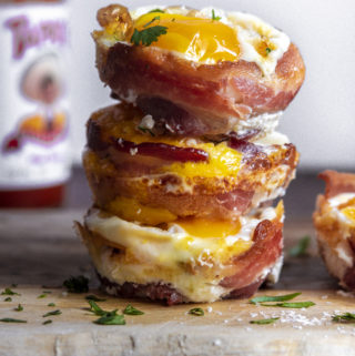 Stack of low carb breakfast muffins
